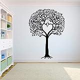 Etiqueta engomada de la pared del árbol dormitorio La raíz del árbol de la vida es el hogar donde los pájaros vuelan Etiqueta de la pared del árbol grande A6 42X59CM