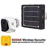 KODAK W101 Caméra de surveillance FULL HD 1080p totalement autonome, Connexion Wifi et batterie...