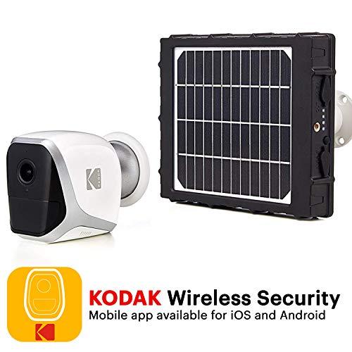 KODAK W101 Cámara de Vigilancia y Panel Solar - Full HD 1080p, Autónoma, WiFi y Batería de Larga Duración (Interior/Exterior)