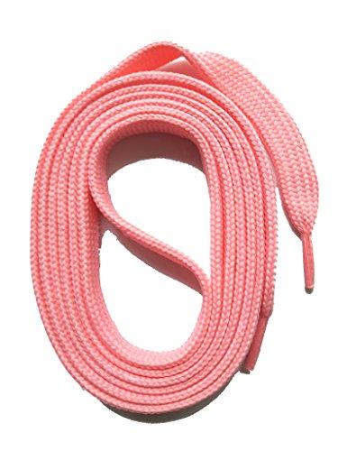 SNORS flache Schnürsenkel ROSA 130cm, 7-8mm, reißfest, Polyester, Made in Germany für Sportschuhe Sneaker Turnschuhe und Laufschuhe - ÖkoTex