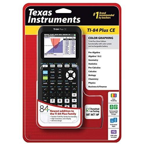 Texas Instruments TI-84 Plus CE - Calcolatrice grafica, colore: Nero