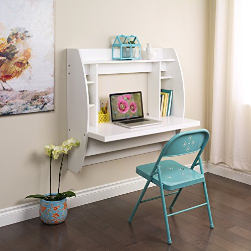Hot Sale Prepac White Floating Desk with Storage