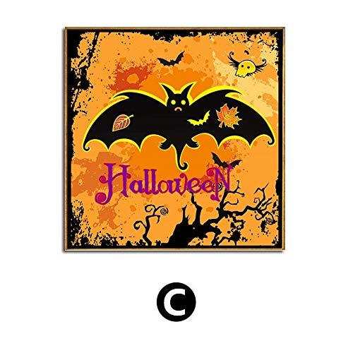 HGlSG DIY Pintar por números Decoración de Halloween Calabaza Linterna y murciélago Pintura Arte Pintura casa embrujada Vacaciones extraño Pintar por numeros Caballos con pince40x40cm(Sin Marc