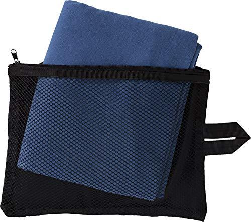 Crivit® Sport-Handtuch aus Mikrofaser | ca. 80 x 130 cm | Aufbewahrungstasche mit Reißverschluss (Blau)