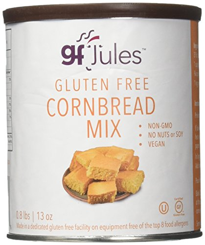 gfJules Gluten Free Cornbread Mix - Voted #1 by GF Consumers, 0.8 lb Can, Pack of 1