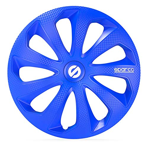 SPARCO Jeu d'enjoliveurs Sicilia 13-inch Bleu/carboné
