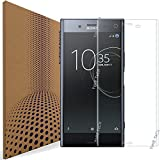 VLP Pack of 2 Compatible with Sony Xperia XZ Premium Screen Protector, Real 3D Bending Edge Anti Scratch Fingerprint Resistant Tempered Glass Screen Protectors for Sony Xperia XZ Premium (Transparent)