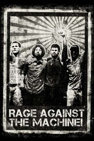 Imaginus Posters Rage Against The Machine Group Shot Rock Music Poster 24 x 36 inches