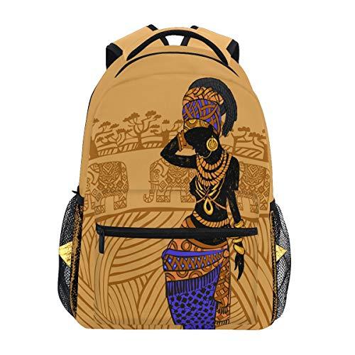 Beau sac à dos noir pour femme africaine, sac à dos d'école, sac à dos de gym, sac d'ordinateur portable, sac de voyage pour enfants, garçons, filles, hommes