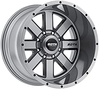 SOTA Offroad 569AB A.W.O.L. Anthra-Kote Blk/Anthra-Kote w/Blk Window/Blk Rivet Wheel with Painted Finish (20 x 9. inches /6 x 5 inches, 0 mm Offset)