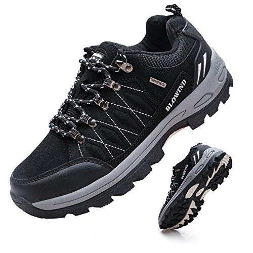 Blowind Mens Waterproof Work Boots Work Shoes Men's Industrial Construction Shoes Construction Boots...