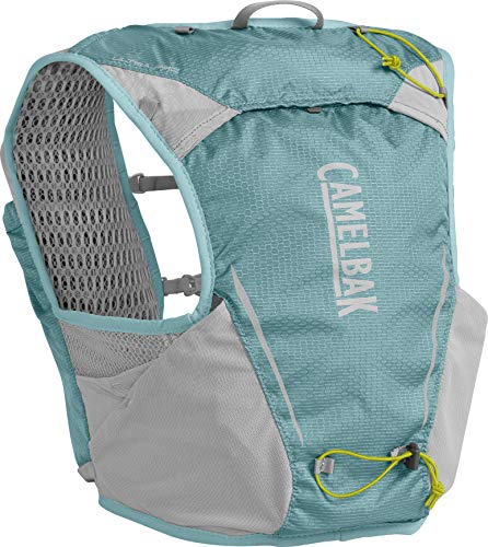 CamelBak Ultra Pro Vest Chaleco de hidratación, Unisex-Adultos, Aqua Seal/Silver, M