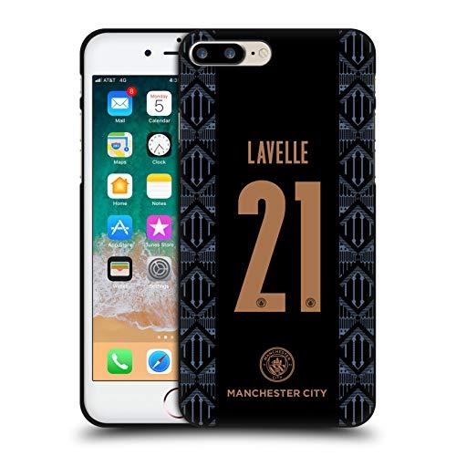 Head Case Designs Oficial Manchester City Man City FC Rosa Lavelle 2020/21 Funda de Gel Negro Compatible con Apple iPhone 7 Plus/iPhone 8 Plus