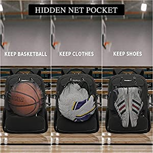 CoolBELL Laptop Backpack 15.6 Inches Bags Multi-functional Travel Lunch Backpack with Insulated Compartment / USB Port Water-resistant Hiking Basketball Backpack for Business Work Men Women(Black)