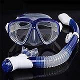KP&CC Trockenschnorchel Set Schnorchelmaske, Gehärtete Glaslinsen Anti-Fog Anti-Leck, Leichtes...