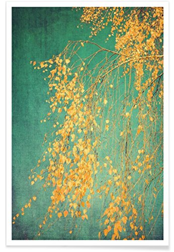 "Juniqe Bäume Poster 20x30cm - Design ""Whispers of Yellow"" entworfen von Ingrid Beddoes"