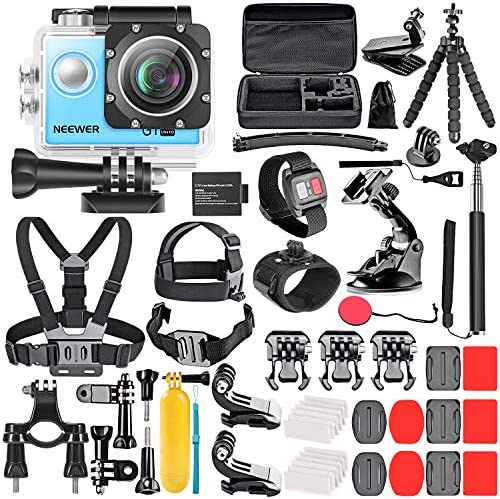 Neewer G1 Ultra HD 4K Action Camera Kit Blue 98 ft Underwater Waterproof Cam 16MP 4K 30FPS 170 product image
