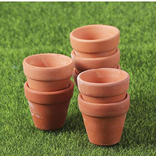 Case Cover 10 Stück Mini Tongefäße Terrakotta-Topf Ton-Keramik-Keramik-übertopf Kaktus Blumentöpfe Sukkulenten Nursery Pots- Groß Für Pflanzen, Kunsthandwerk, Wedding Favor
