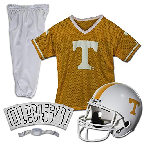 Franklin Sports NCAA Tennessee Volunteers Kids College Football Uniform Set - Youth Uniform Set - Includes Jersey, Helmet, Pants - Youth Medium