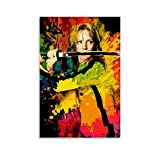 FANFF Kill Bill Farb-Kunst-Poster, dekoratives Gemälde,
