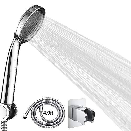 High Pressure Shower Head Kit, Handheld Detachable Shower Spray with Long Hose, Adjustable Shower Head Holder
