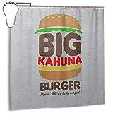 GSEGSEG Wasserdichter Polyester-Duschvorhang Big Kahuna Burger Tarantino Print Dekorativer Badezimmer-Vorhang mit Haken, 182,9 cm x 182,9 cm