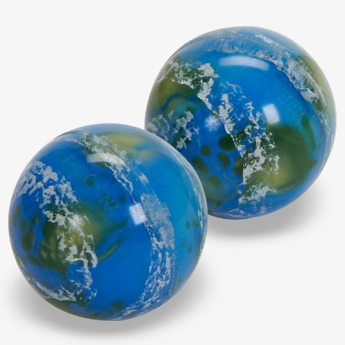 Earth Bouncing Balls (1 dz) [Toy] by SuperBouncyBalls.com