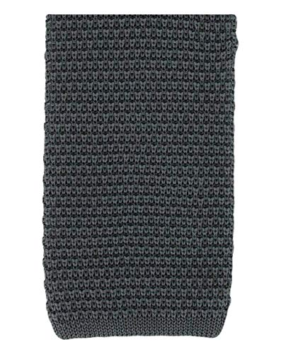 Michelsons of London Cravate en soie à charbon tricoté de