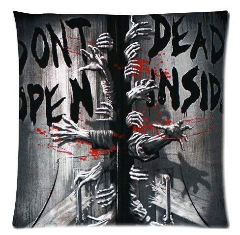 By Custom Dont Open Dead Inside The Walking Dead Home Decorative Soft Throw Pillowcase Cushion Custom Pillow Case Cover Protecter with Zipper Standard Printed Fundas para Almohada (40cmx40cm)