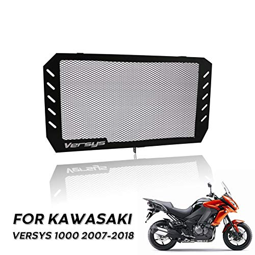 YUXINXIN motorfiets radiator grill bescherming radiator grill Vale for Kawasaki Versys 1000 07-18 Zwart
