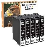 D&C 5 cartuchos de tinta negra de 15 ml compatibles con Epson 29 29XL BK para Epson Expression Home XP-330 XP-330 Series XP-332 XP-335 XP-340 XP-342 XP-345 XP-352 XP-355 XP-430 XP-430 XP-432 XP-435