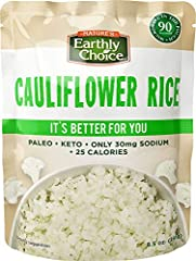 Delicious cauliflower rice- low carb and microwave easy Paleo & Keto friendly- only 25 calories per serving An amazing & Healthy alternative to rice