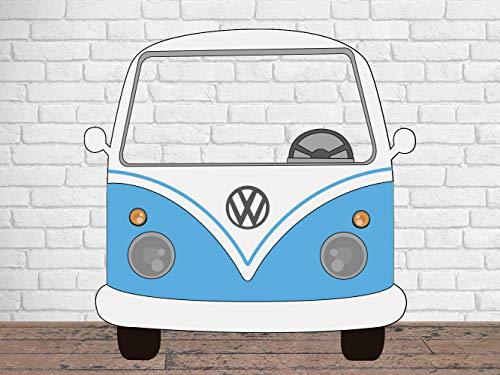 Photocall para Bodas en Cartón Furgoneta Azul 156x150cm | Photocall Furgoneta Azul | Photocall Económico y Original | Photocall Troquelado