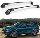 2 Piezas Coche Aluminio Bacas Para Audi Q8 2019 2020, Barras De Techo Portaequipajes Barra Transversales Accesorios de EstiloDe Coche