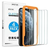 OMOTON [4-Pack] Screen Protector for iPhone 11 Pro Max/ iPhone Xs Max, 6.5 inch - Tempered Glass/Guide Frame/Easy Installation