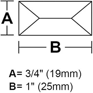 "3/4"" x 1"" Peaked Rectangle Bevel - Box of 30"
