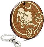LIKY® Sternzeichen Löwe - Original Schlüsselanhänger aus Holz Gravur Geschenk für Astrologie Fans Damen Herren Geburtstag Hobby Schmuck Anhänger Tasche Rucksack