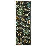 Maples Rugs Reggie Floral Runner Rug Non Slip Hallway Entry Carpet [Made in USA], Multi, 2 x 6