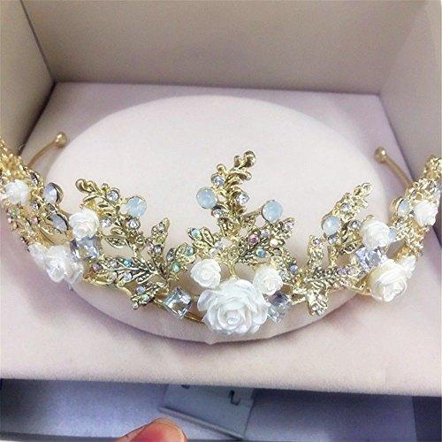 Weddwith Accessoires de coiffure Cheveux accessoires vente chaude cristal couronne mariée strass cerceau couronne d'anniversaire princesse couronne mariée ornements