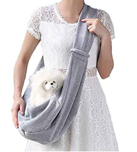 MINASAN Tragetücher Hunde Kleine Hunde Katze Sling Pet Tragetuch Rucksack Single Schulter Pet Bag für Reisen hundetragebeutel (Grau, Einheitsgröße)