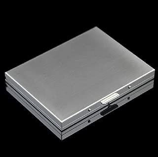 Aluminum Wallet Credit Card Holder RFID Blocking Card Case Women Men (Silver Cigarette Case)