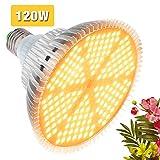 120W Lampada per Piante, 180LEDs Lampada da Coltivazione, E27 Luce Piante LED Spettro Comp...