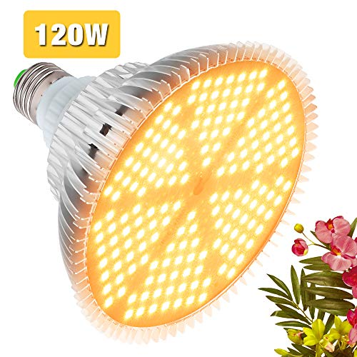 Pflanzenlampe Grow Light 120W LED Wachstumslampe E27 Vollspektrum 150 LEDs Pflanzenleuchte für Garten Gewächshaus Zimmerpflanzen, Blumen und Gemüse