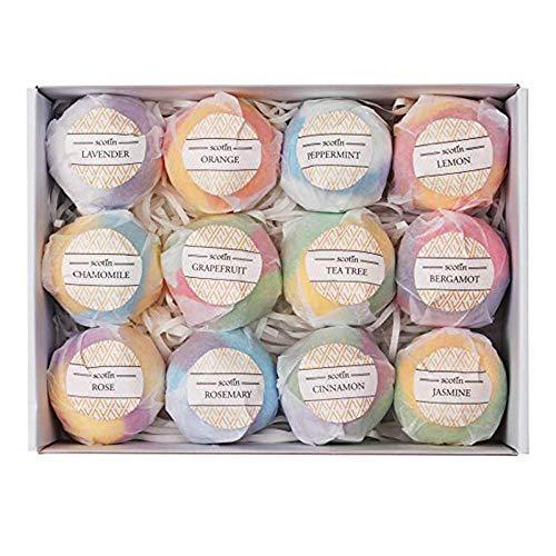 Bombe De Bain Aux Huiles Essentielles Naturelles Boules De Bain Cadeau Parfait Pour Femmes Jeunes Fête Des Mères Coffret Sel De Bain-Couleur Mélangée 100G * 6 Pack/Set Box