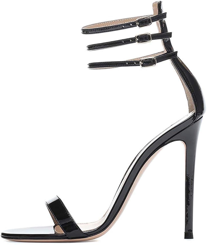Kvinnors Sexiga Ankle Strap Show Open Toe hög klack klack klack Dress Stiletto skor Pump Bröllopskväll Party Dress Sandals  officiell kvalitet