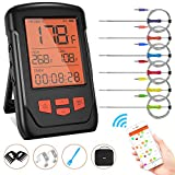 Wireless Meat Thermometer for Grilling, Bluetooth Meat Thermometer Digital BBQ Cooking Thermometer