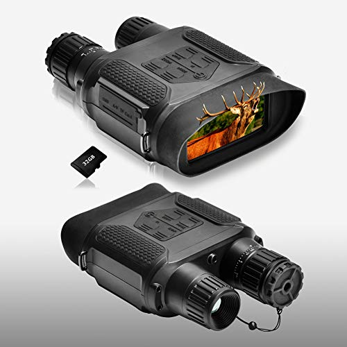 Night Vision Binoculars 1300ft/400M Viewing Range, with 3.5-7x31mm Infrared Camera, 4' Large Screen Night Vision Goggles, with 32G TF Card and Photos Videos Features for Hunting and Surveillance
