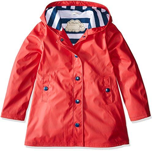 Hatley Mädchen Splash Jackets Regenjacke, Rot und Marineblau, 12 Jahre