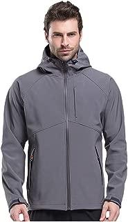 Men Winter Hooded Tops Softshell Windproof Waterproof Soft Coat Shell Jacket