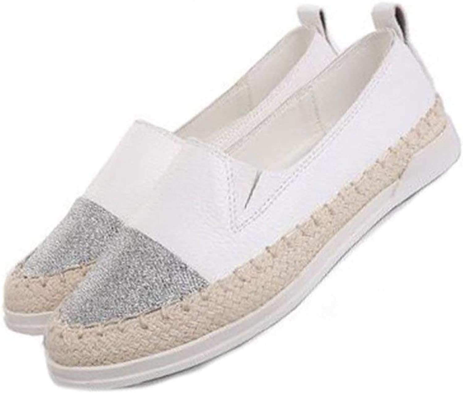 DETAIWIN Women Flats Casual Loafers Comfort Patchwork Slip On Anti-Skid Shallow Girls Round Toe Espadrilles shoes